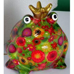 Pomme Pidou Spardose Wiesenserie, Frosch mit roten Blumen