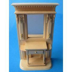 Puppenhaus Flurgarderobe Dielen Schrank Puppenhausmöbel Miniaturen 1:12
