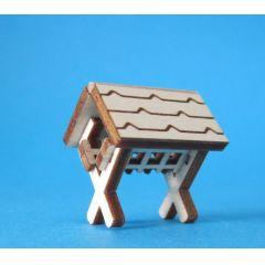 Futterkrippe Mini Holz Handarbeit Erzgebirge Seiffen