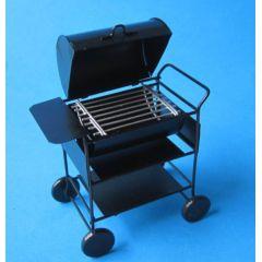 American Barbeque Grill schwarz Metall  Puppenhaus Miniatur 1:12