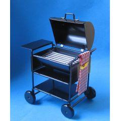 Puppenhaus Mini American Barbecue Grill schwarz Metall  Miniaturen 1:12