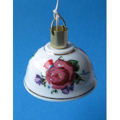 Hängelampe Porzellan Rosen oder Zwiebelmuster Puppenhaus Dekorationen Miniaturen