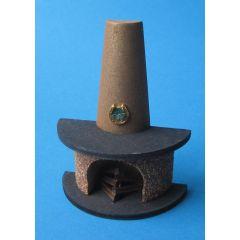 Kamin halbrund mit Rauchfang für Puppenhaus Wohnzimmer