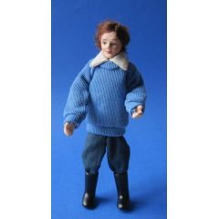Junger Mann  Puppe für Puppenhaus Miniaturen 1:12