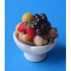 Früchtekorb Obstschale  für das Puppenhaus Deko Miniaturen 1:12
