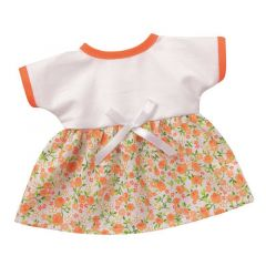 Bunte Sommerkleider weiss mit Blütenranken Puppenkleidung für 24-26 cm Schwenk