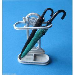 Schirmständer 2 Regenschirme Puppenhaus Möbel Miniaturen 1:12