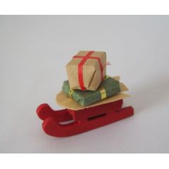 Schlitten mit Geschenken Puppenhaus Miniatur 1:12