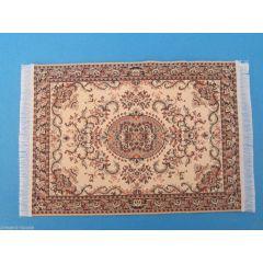 Puppenstuben Teppich creme/beige 15,5 x 10 cm Puppenhaus Möbel Miniatur 1:12