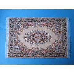 Puppenstuben Teppich gold/blau 23,5 x 15,5 cm Puppenhaus Dekorationen Miniatur 1:12