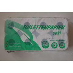 Toilettenpapier 64 Rollen 250 Blatt, 2 lagig, recyceling, weisslich/natur