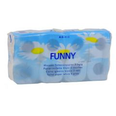 Toilettenpapier 72 Rollen 250 Blatt, 3 lagig, Zellstoff hochweiss