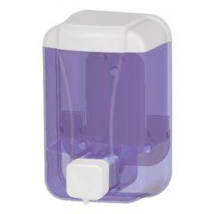 Seifenspender Wall 500 ml blau transparent, aus Kunststoff für flüssig Seife