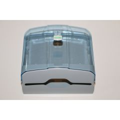 CleanSV® Via Hellblau/Transparent  Papierhandtuchspender aus Kunststoff 27 cm x 27 cm x 13 cm