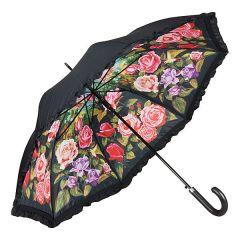 Von Lilienfeld Regenschirm Stockschirm Rosengarten Damen doppelt bespannt
