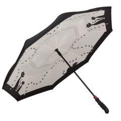 Von Lilienfeld Stockschirm Regenschirm schwarze Katzen umgedreht