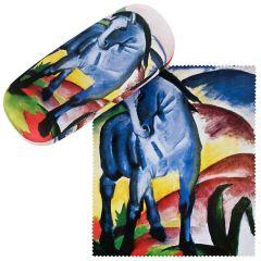 Von Lilienfeld Brillenetui Hardcase Brillentuch Blaues Pferd