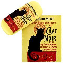 Von Lilienfeld Brillenetui Hardcase Brillentuch Chat Noir