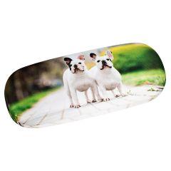 Von Lilienfeld Brillenetui Französische Bulldogge Hardcase incl.Brillentuch Hundemotiv