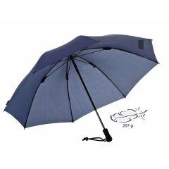 EUROSCHIRM Swing liteflex blauer Regenschirm für Damen und Herren Trekking