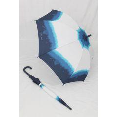 Esprit Stockschirm Regenschirm weiß blau