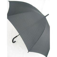 Esprit Stockschirm Regenschirm Nadelstreifen schwarz Herrenschirm