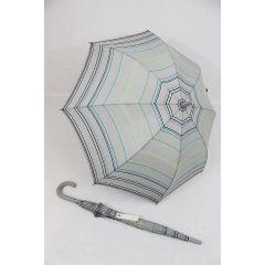Esprit gestreifter Stockschirm Regenschirm grau bunt Langschirm