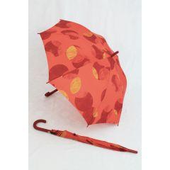 Esprit Stockschirm orange gepunktet Dots Regenschirm
