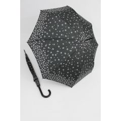 Happy Rain Stockschirm geblümter Regenschirm Millefleurs schwarz