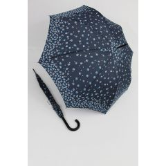 Happy Rain Stockschirm geblümter Regenschirm Millefleurs blau