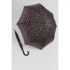 Happy Rain Stockschirm geblümter Regenschirm Millefleurs braun