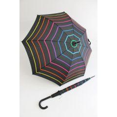 Happy Rain Stockschirm gestreifter Regenschirm Stripe 04