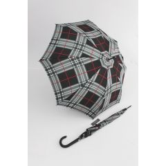 Happy Rain schwarz karierter Stockschirm Regenschirm Kinematic