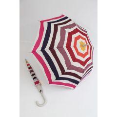 Esprit gestrifter Regenschirm Eroded Stries 02 Stockschirm