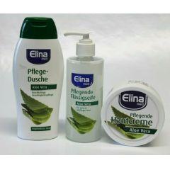 Elina med  Aloe Vera Set  Pflegedusche,Flüssigseife,Hautcreme