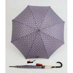 Pierre Cardin Regenschirm Stockschirm für Damen flieder Punkte