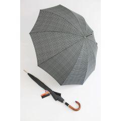 Pierre Cardin Stockschirm grau karierter Herrenschirm Regenschirm