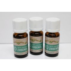100 % naturreines Zirbenkiefernöl  3 x 10 ml  Zirbenöl