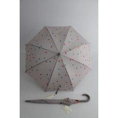 Esprit Stockschirm Regenschirm Damen Streifen und Punkte