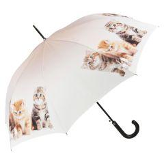 Von Lilienfeld Stockschirm Regenschirm Katzentrio Automatikschirm