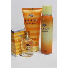 La Rive Duschgel 200 ml,Deodorant 150 ml, Edp woman 30 ml Damenduft
