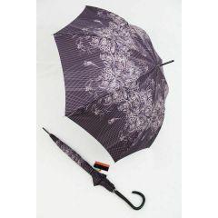 Pierre Cardin lila Regenschirm Stockschirm für Damen Elegance