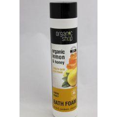Organic Shop Badeschaum Lemon Manuka Honig 500 ml Schaumbad