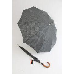 Pierre Cardin Stockschirm grau gemustert Herrenschirm Regenschirm