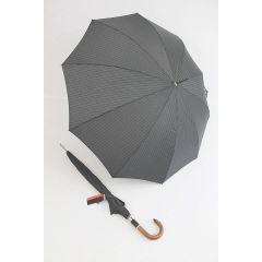 Pierre Cardin Stockschirm grau schwarz gestreift Herrenschirm Regenschirm