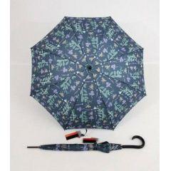 Pierre Cardin blauer Regenschirm Stockschirm für Damen Poesie 03
