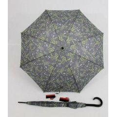 Pierre Cardin grauer Regenschirm Stockschirm für Damen Poesie 02