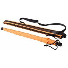 EUROSCHIRM Swing liteflex orange Regenschirm für Damen und Herren Trekking