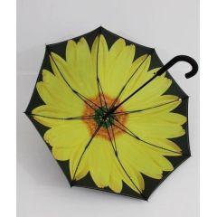 Susino Regenschirm Stockschirm Sonnenblume 02 doppelt bespannt 13101