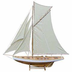 135 cm-Große, dekorative Yacht, Segelschiff, Schiffsmodell Segelyacht